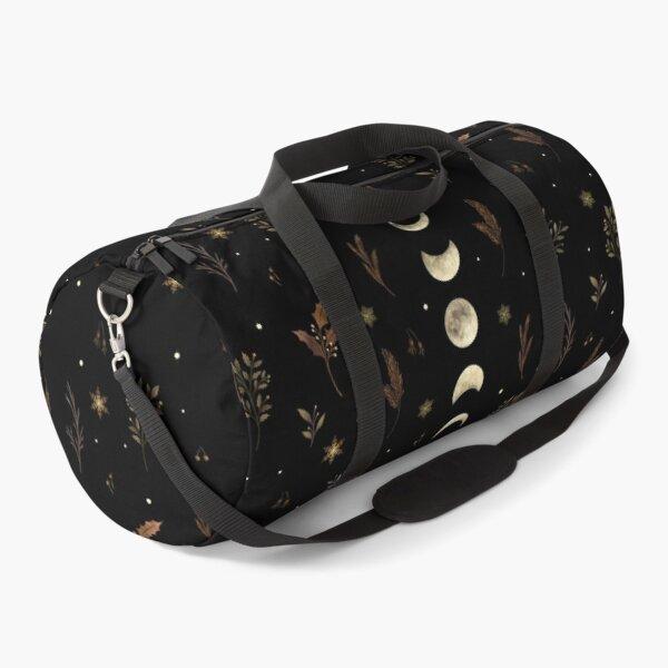 Moonlit Garden-Winter Brown Duffle Bag