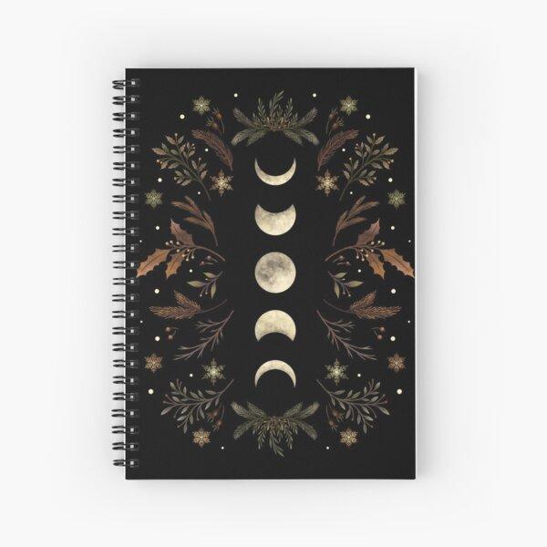 Moonlit Garden-Winter Brown Spiral Notebook