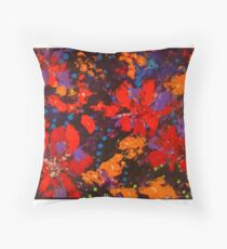 Flowers by John E Metcalfe Throw Pillow