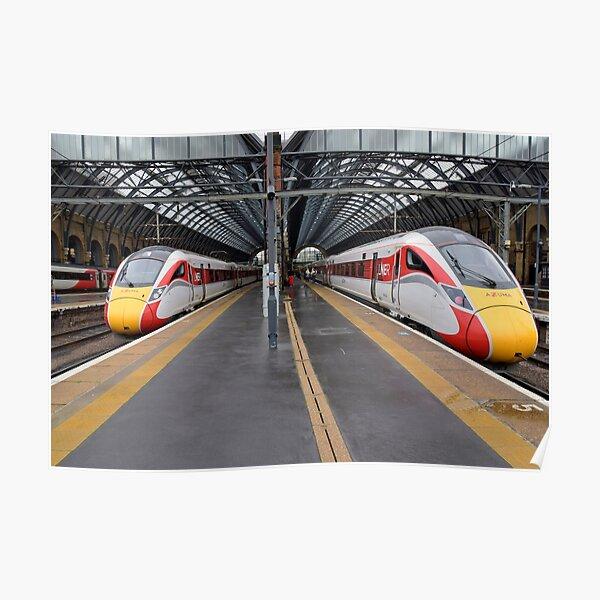 LNER Azuma trains at Kings Cross Poster