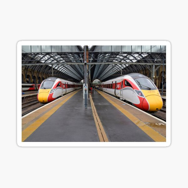 LNER Azuma trains at Kings Cross Sticker