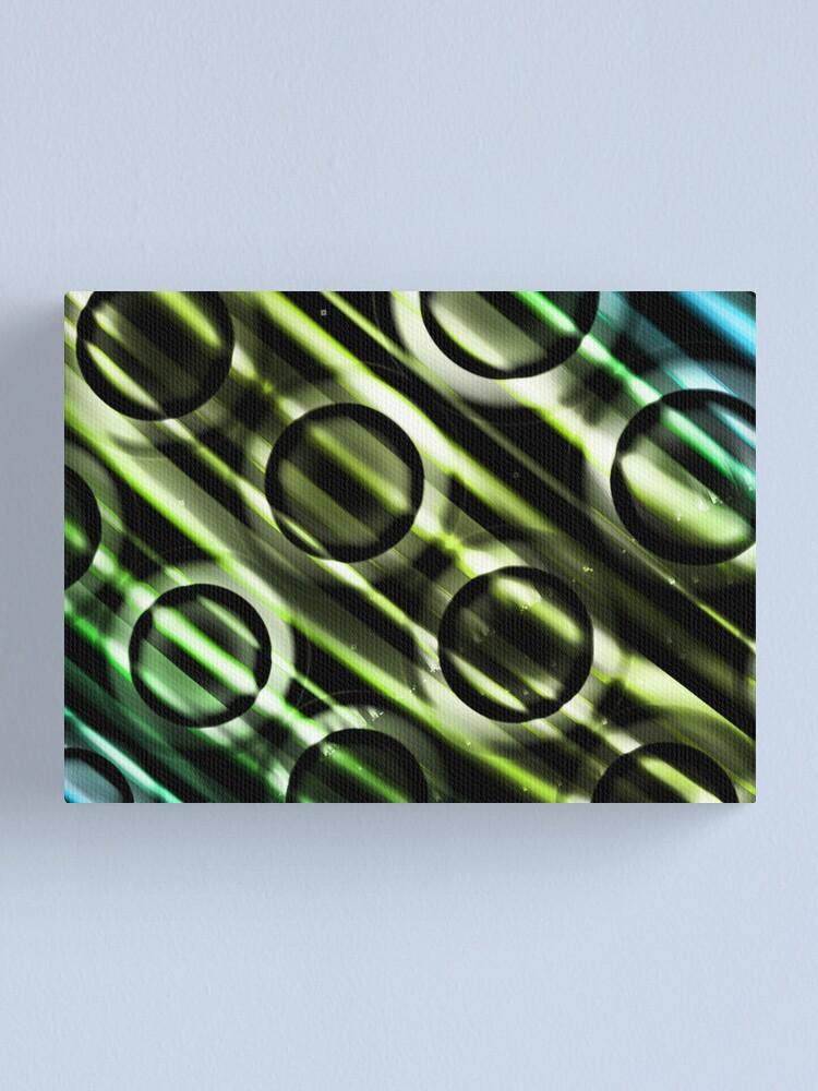 Alternate view of Green Yellow Blue Circles Design Canvas Print