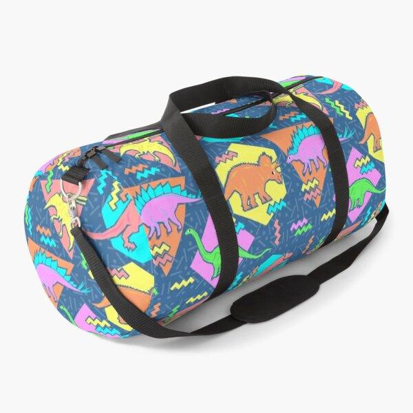 Nineties Dinosaurs Pattern Duffle Bag