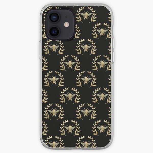 Distressed Golden Bee iPhone Soft Case