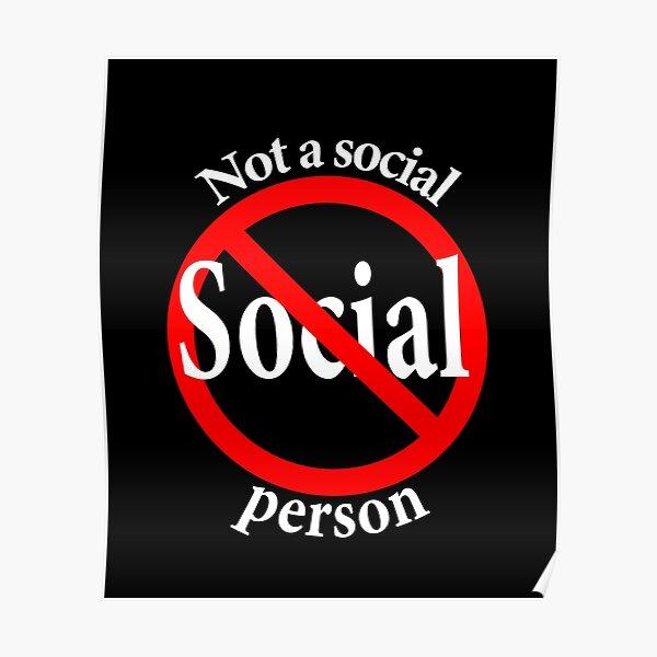 Not a Social Guy - Not a Social Gal Poster