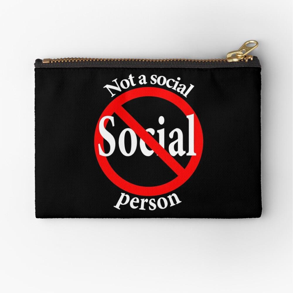 Not a Social Guy - Not a Social Gal Zipper Pouch