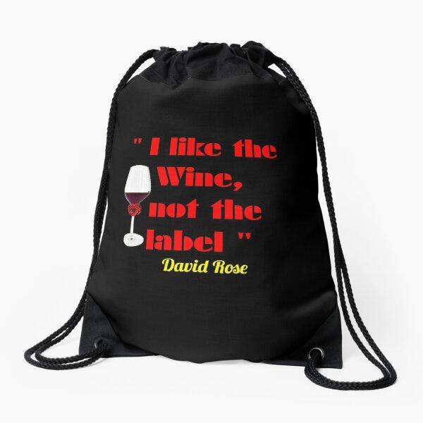 'I like the wine, not the label' Rose Classic T-Shirt/masks/sweatshirts Drawstring Bag