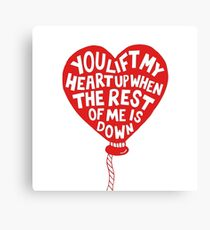 Quotes The Heart Canvas Print