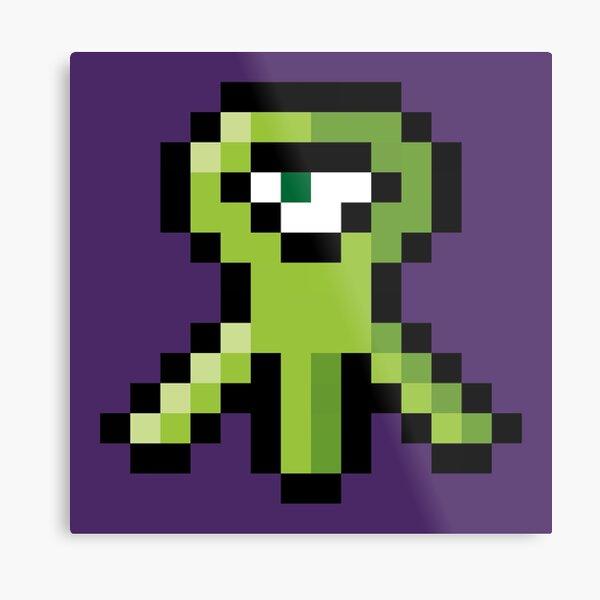 Pixel Alien Metal Print