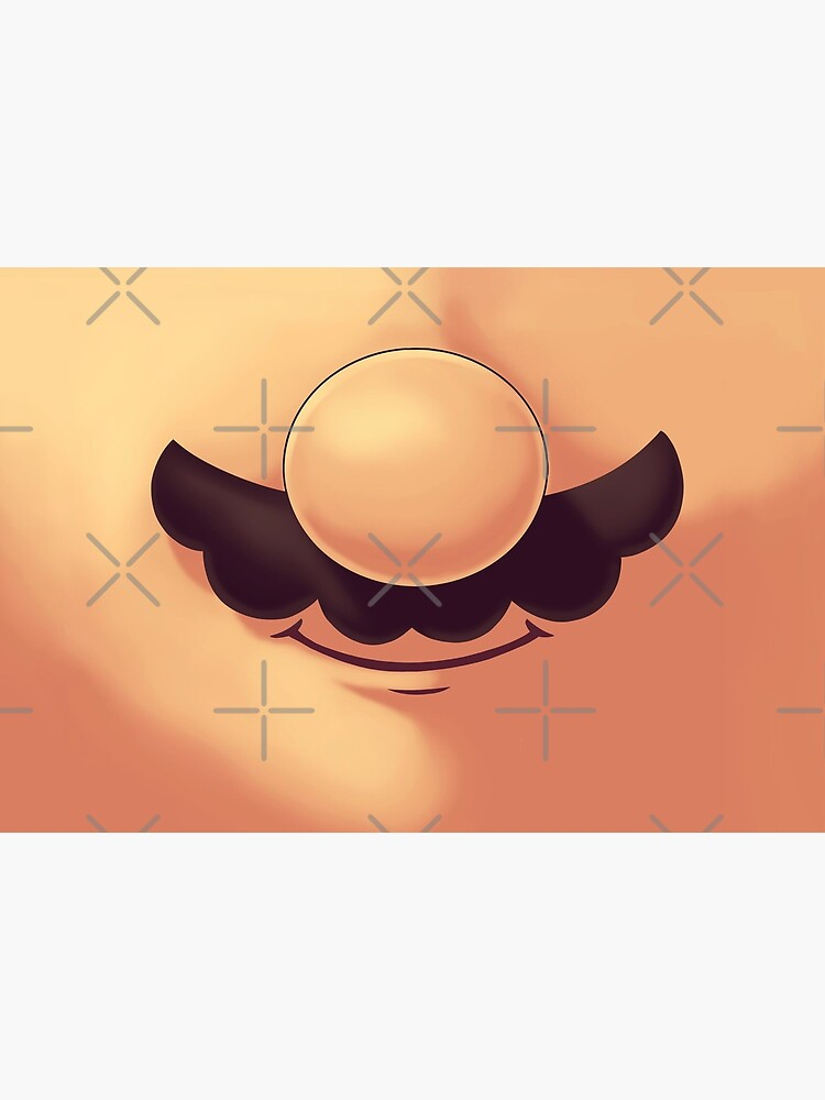 Plumber Mustache Mask  // Funny Mouth, Gaming Classics, 80s 90s Platformer by Geekydog