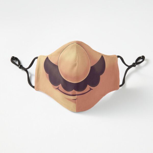 Plumber Mustache Mask  // Funny Mouth, Gaming Classics, 80s 90s Platformer Fitted 3-Layer