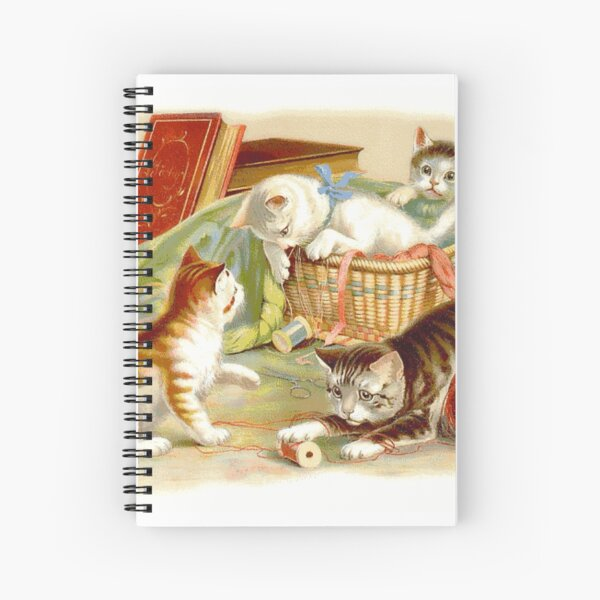 Kittens Playing Spiral Notebook