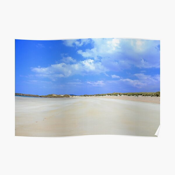 Low Tide at Carrickfinn Beach in Donegal Ireland Poster