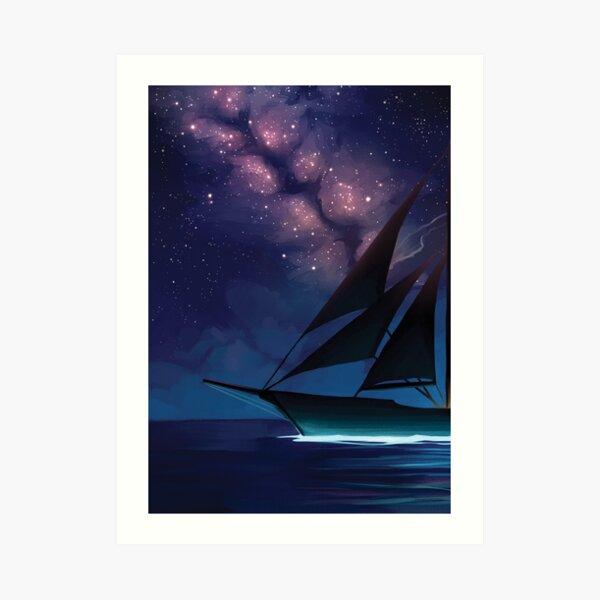 Compass - Moonlight Bay Art Print