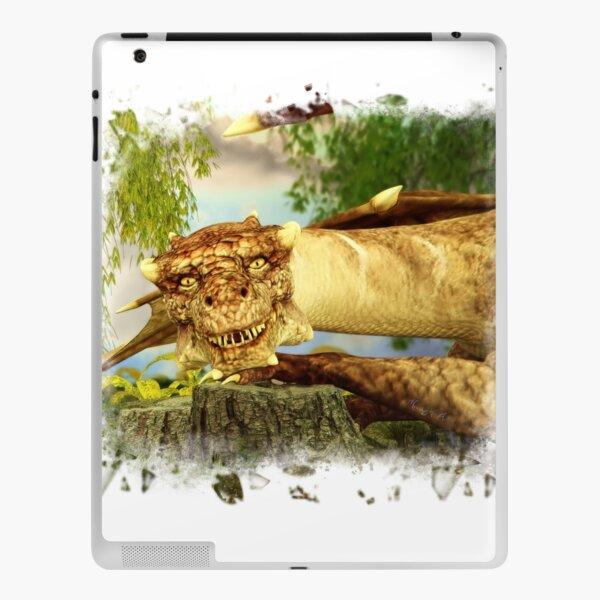 Freundlicher Drache zeigt die Zähne iPad Klebefolie