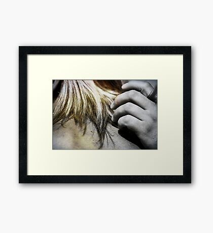 I love your touch Framed Print