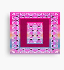 Cute and cool style desing love patchwork Canvas Print