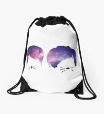 Dan and Phil Galaxy Drawstring Bag