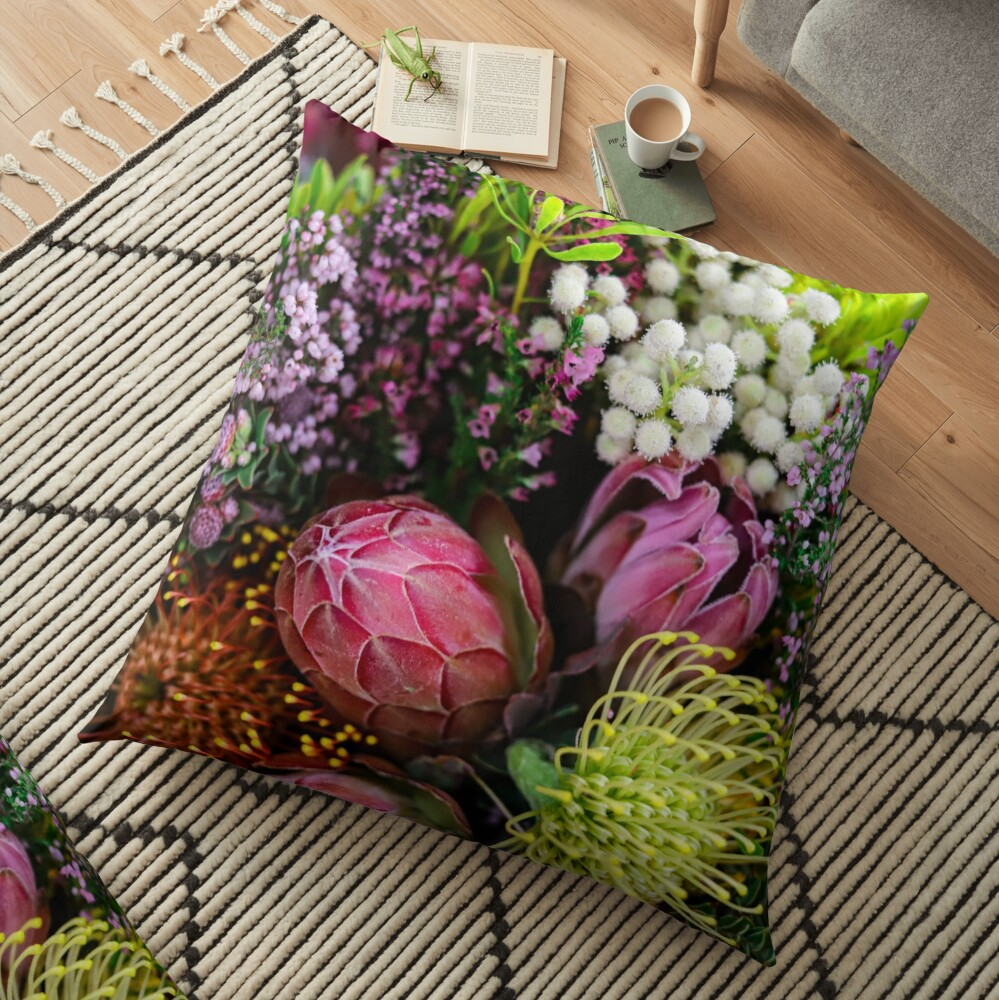 Closed Protea in a bouquet from South Africa (Southern Africa) Floor Pillow