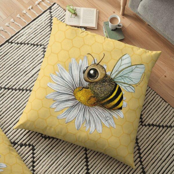 Bee and Daisy Floor Pillow