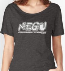 """Jessie Rees Foundation """"NEGU"""" in White Women's Relaxed Fit T-Shirt"""