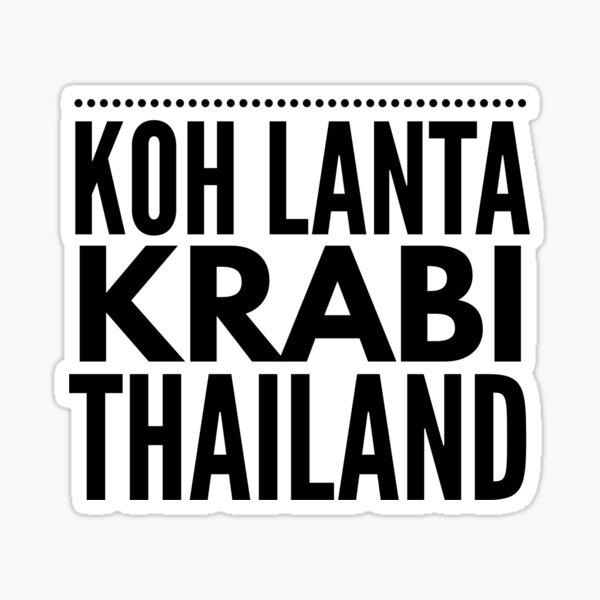 Koh Lanta, Krabi, Thaïlande Sticker