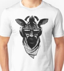 Cool Zebra Kopf mit Kopfhörern (schwarz und weiß) Unisex T-Shirt