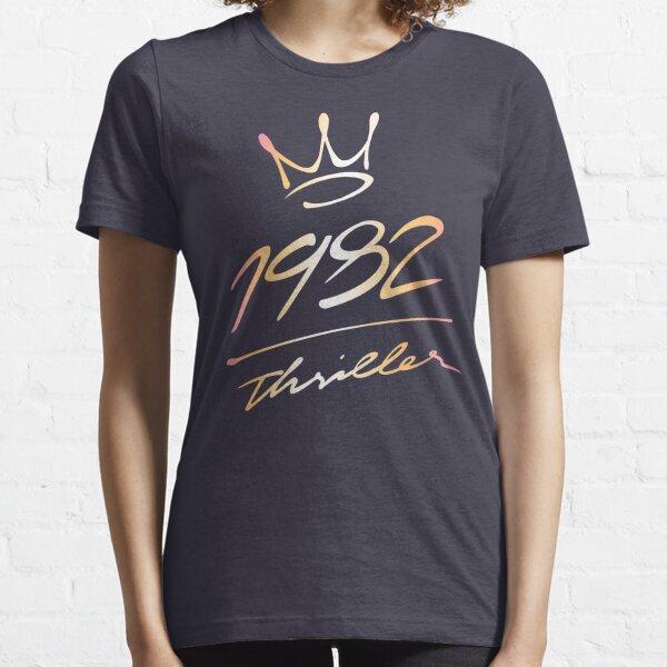 "1982 ""Thriller"" crown logo (Michael Jackson) Essential T-Shirt"