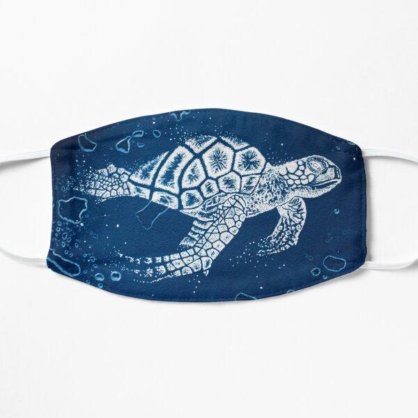 cyanotype sea turtle Mask