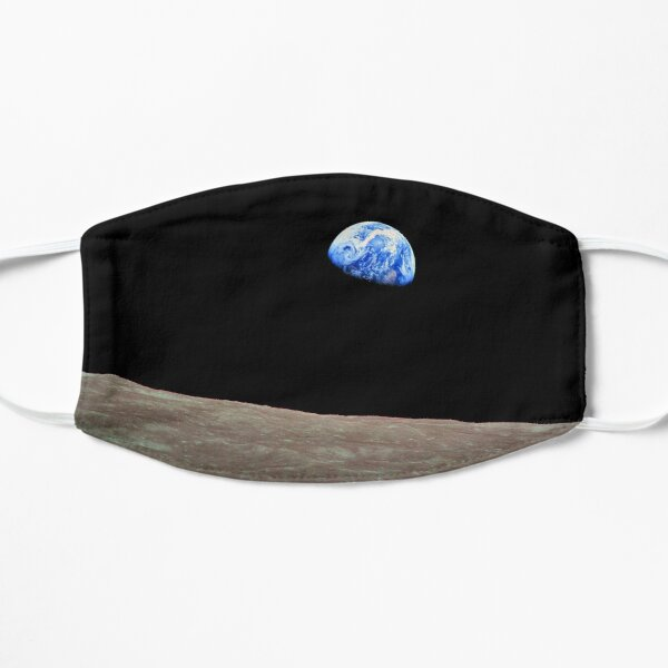 Earthrise Over the Lunar Surface. Flat Mask