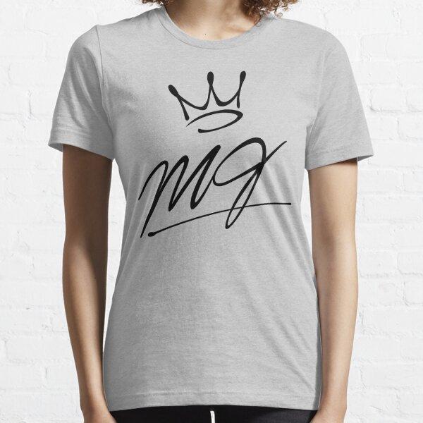"""""""MJ"""" crown black logo (Michael Jackson) Essential T-Shirt"""