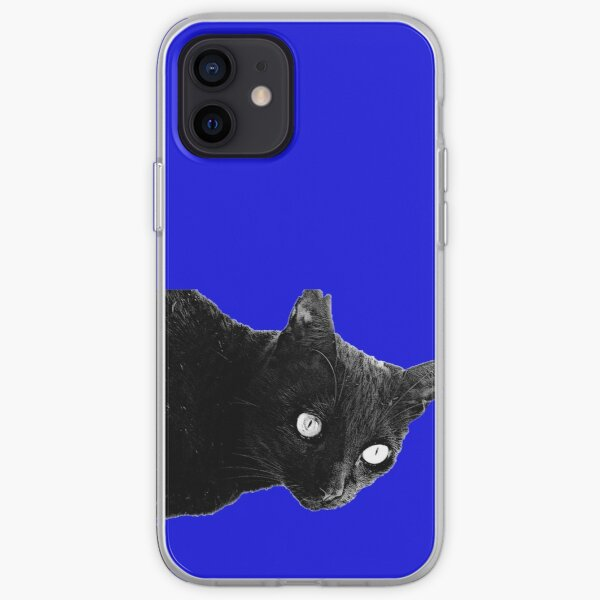 Pearli peaks through the window in midnight blue iPhone Soft Case