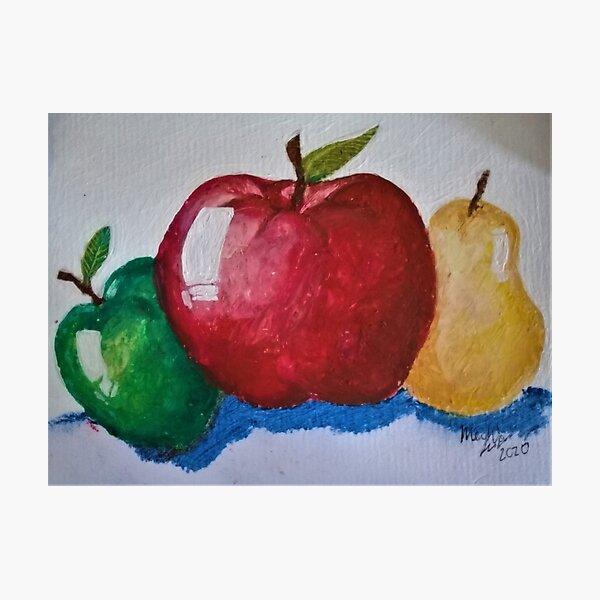 Fruits - Oil Pastel Art Photographic Print