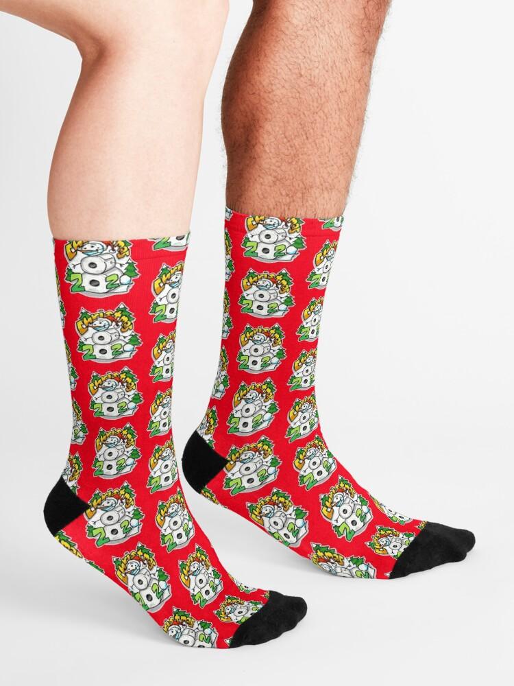 Alternate view of Christmas 2020 Toilet Paper Snowman Socks