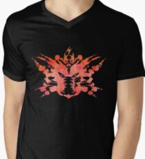 Pikachu Rorschach Test (Red) Men's V-Neck T-Shirt