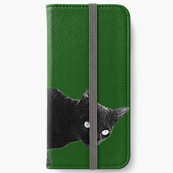 Pearli peaks through the window like the queen of green iPhone Wallet
