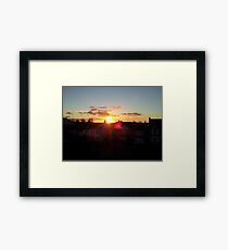 Suburb Sunset Framed Print
