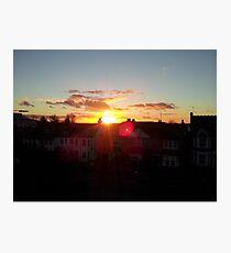 Suburb Sunset Photographic Print