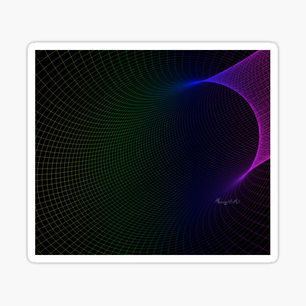 Colorful mesh with black background Sticker