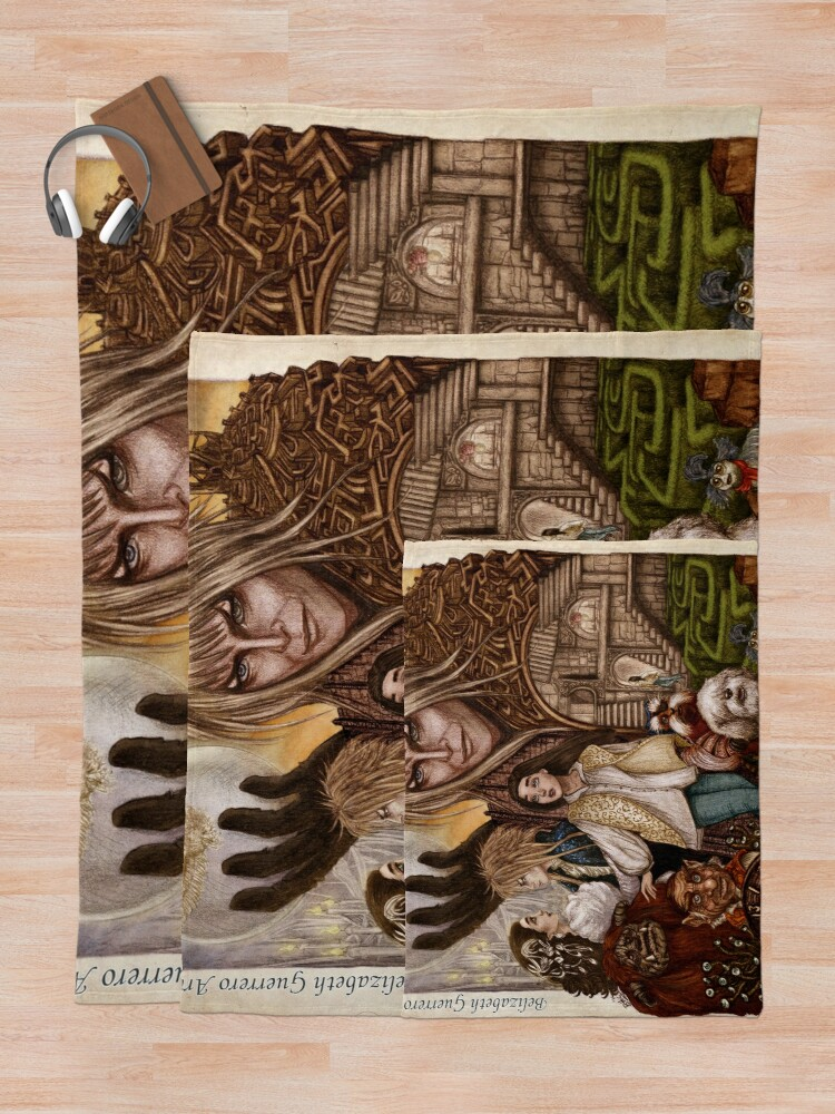 Alternate view of Labyrinth Throw Blanket