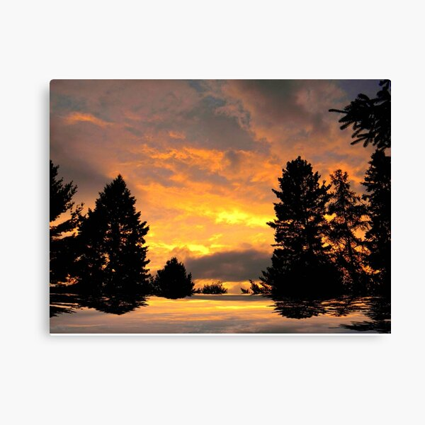 Fire in the Sky ! Canvas Print