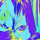 Blue Palms Abstract by Rosie Brown