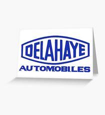 French classic car logo Delahaye automobiles Greeting Card