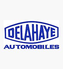 French classic car logo Delahaye automobiles Photographic Print