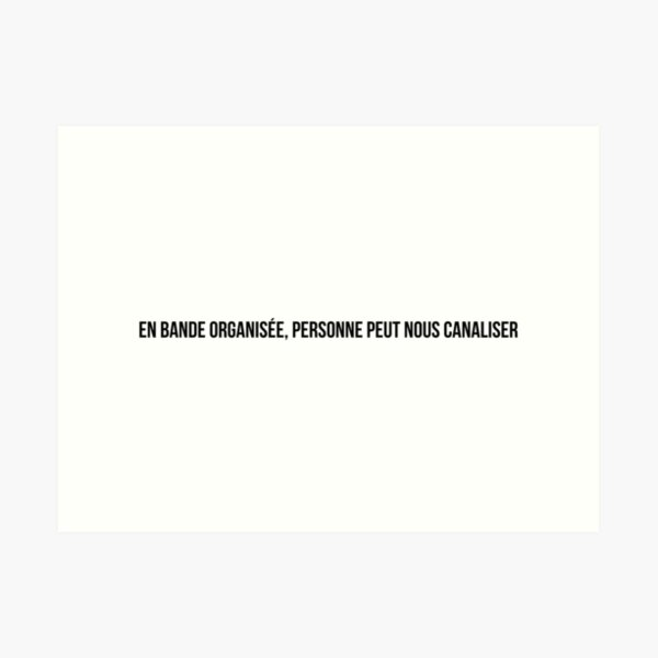 Organized Band (Jul, Soso Maness, SCH) Art Print