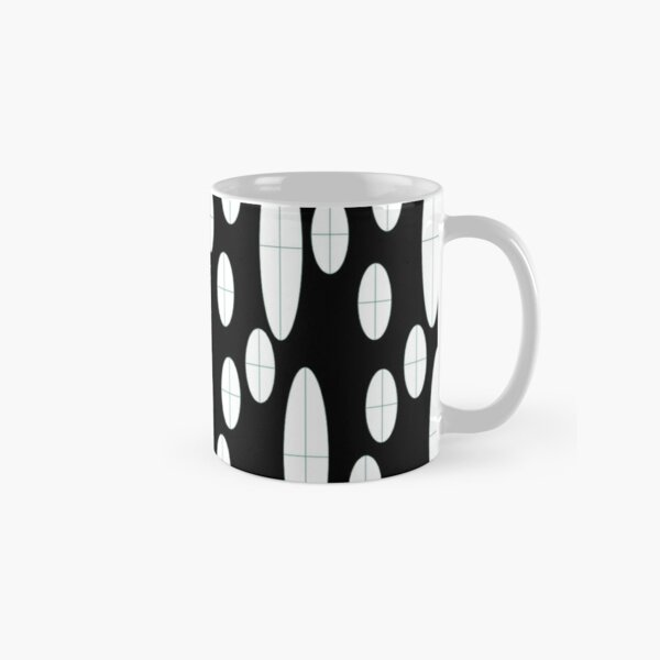 Ovals in Black and White Classic Mug