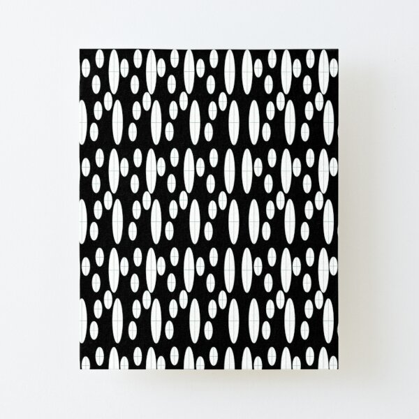 Ovals in Black and White Canvas Mounted Print
