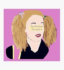 Skins UK - I'm Pandora. I'm useless. Photographic Print