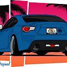 86ZILLA - Blue - Sticker by BBsOriginal