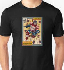Super American Patriot Man Trading card T-Shirt